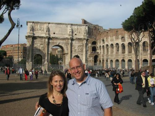 Paul and Carol in Rome (Large)